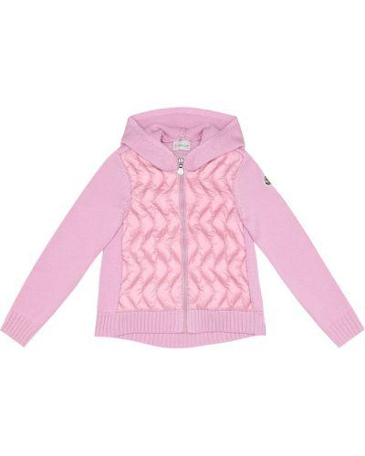 Шерстяная розовая куртка Moncler Enfant