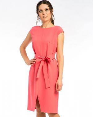 Летнее платье с декольте коралловый Modellos