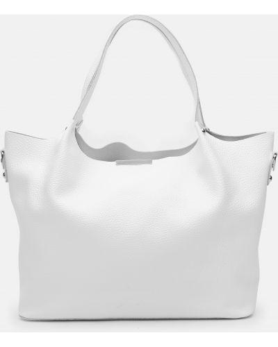 Кожаная сумка - белая Palmera