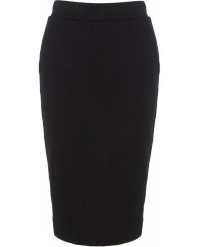 Черная юбка с разрезом Selected