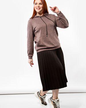 Блузка с длинным рукавом свободного кроя с вырезом с карманами с длинными рукавами Dora