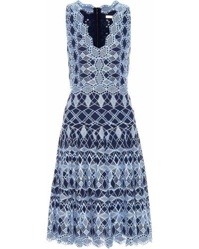 Платье с вышивкой с кружевными рукавами Jonathan Simkhai