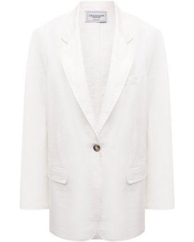 Хлопковый бежевый пиджак Forte Dei Marmi Couture