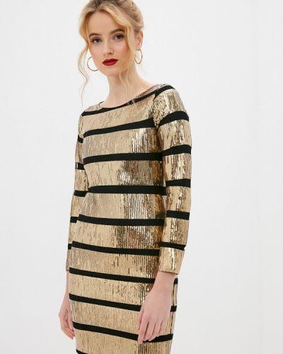 Вечернее платье золотое Fadjo