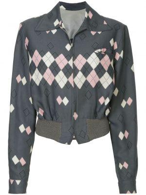 Серая классическая куртка с манжетами на пуговицах Fake Alpha Vintage