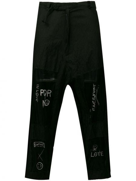 Черные брюки с поясом на молнии со вставками Barbara Bologna