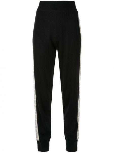 Спортивные брюки с завышенной талией - черные Escada Sport