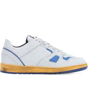 Sneakersy skorzane sznurowane koronkowe Ales Grey