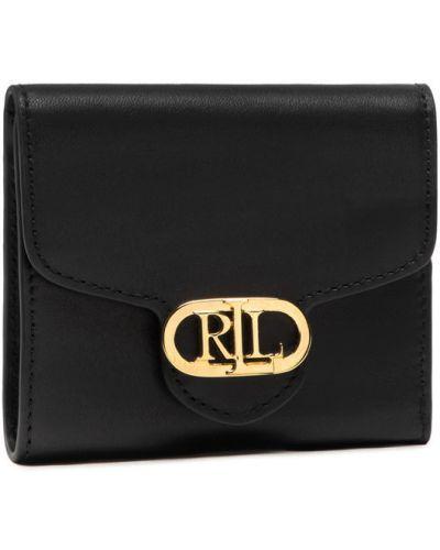 Czarny portfel Lauren Ralph Lauren