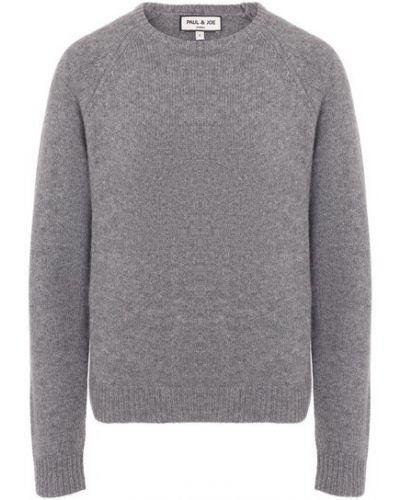 Серый трикотажный пуловер Paul&joe