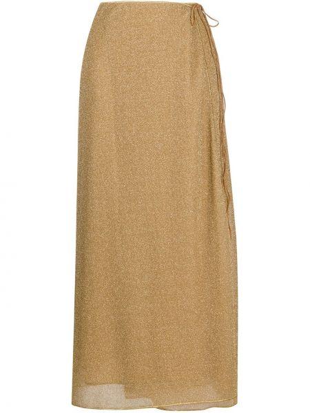 Расклешенная юбка золотая Oseree