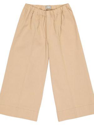 Хлопковые бежевые брюки стрейч Il Gufo