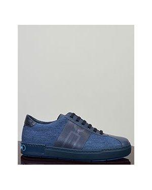Синие кроссовки Zilli