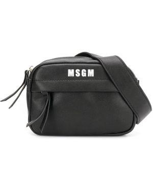 Сумка через плечо черная Msgm Kids
