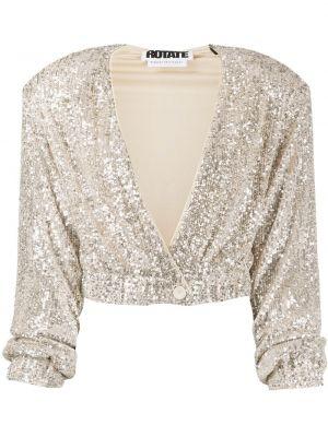 Пиджак с пайетками - серебряный Rotate