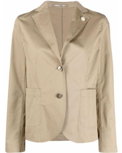 Хлопковый однобортный удлиненный пиджак на пуговицах Lardini