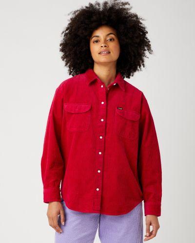 Koszula sztruksowa - czerwona Wrangler