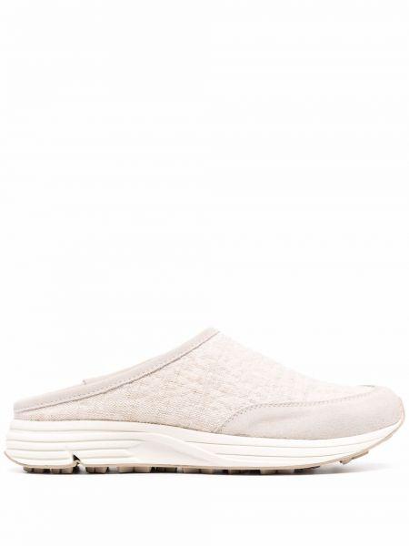 Beżowe sneakersy zamszowe Diemme