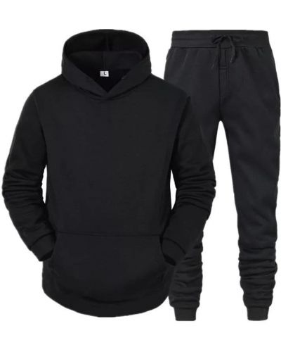 Теплый спортивный костюм - черный Fashion Man