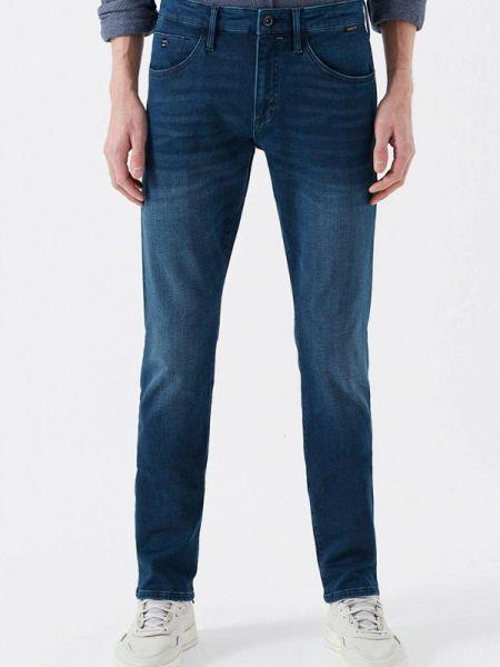 Синие прямые джинсы с жемчугом Mavi