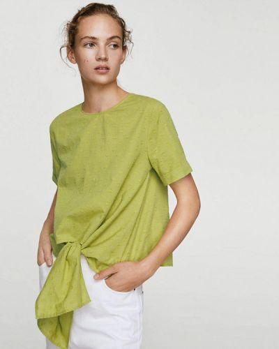 Зеленая футболка Mango