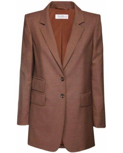 Пиджак с карманами из верблюжьей шерсти с манжетами Max Mara
