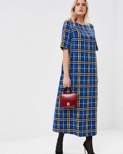 Повседневное платье осеннее синее Tutto Bene Plus