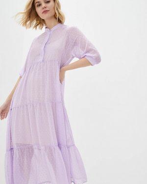 Повседневное платье весеннее фиолетовый Lilove
