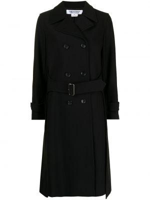 Черное пальто из полиэстера Comme Des Garçons Comme Des Garçons