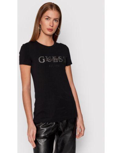 T-shirt - czarna Guess
