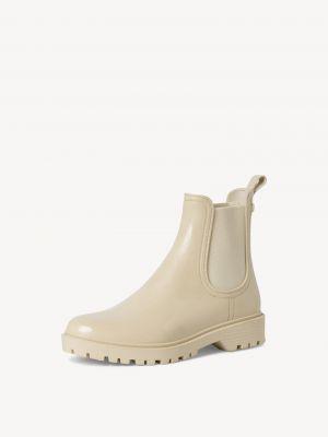Ботинки челси на каблуке - бежевые Tamaris