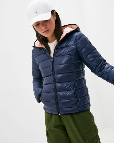 Теплая синяя утепленная куртка Q/s Designed By