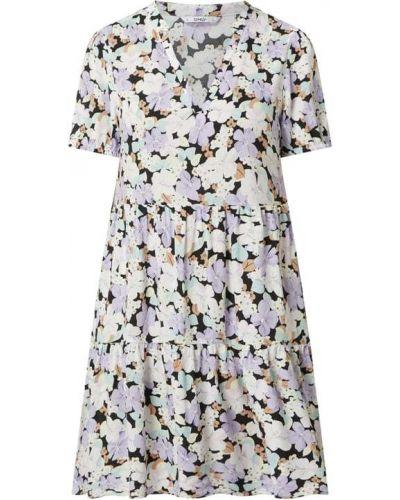 Fioletowa sukienka mini rozkloszowana z wiskozy Only