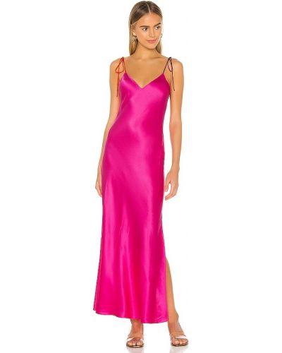 Różowa satynowa sukienka długa Dannijo