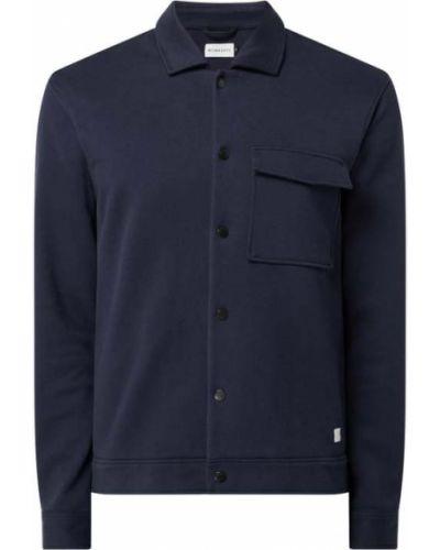 Niebieska koszula slim bawełniana z długimi rękawami Nowadays