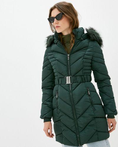 Зеленая утепленная куртка B.style