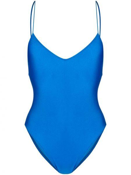 Синий слитный купальник с люрексом Mc2 Saint Barth