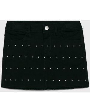 Черная юбка на пуговицах Blukids