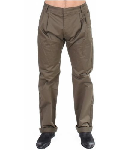 Zielone spodnie bawełniane Gf Ferre