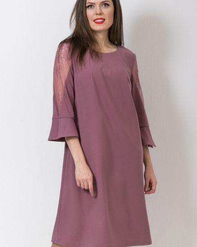 Кружевное нарядное с рукавами платье Modellos
