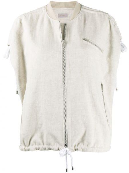 Белая куртка без рукавов на молнии Mrz