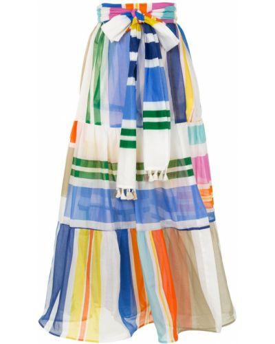 Хлопковая расклешенная с завышенной талией юбка миди Silvia Tcherassi