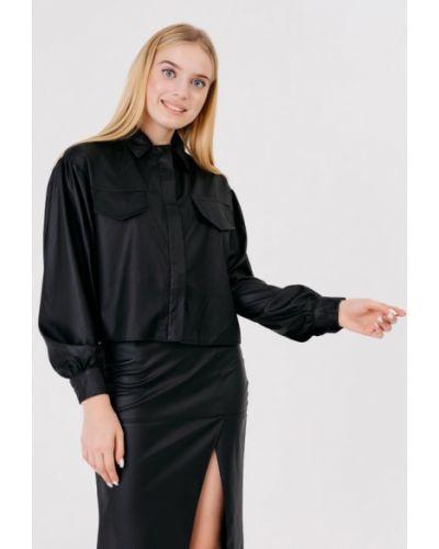 Черная кожаная куртка Bessa