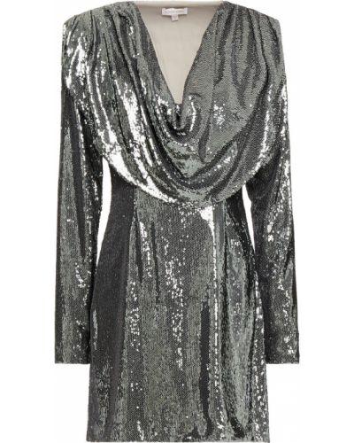Текстильное платье мини с пайетками с подкладкой Ronny Kobo