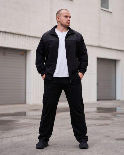 Трикотажный спортивный костюм - черный Rozetka