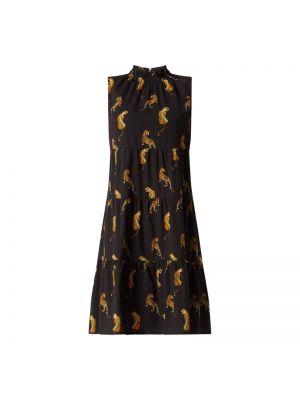 Czarna sukienka rozkloszowana bez rękawów Risy & Jerfs