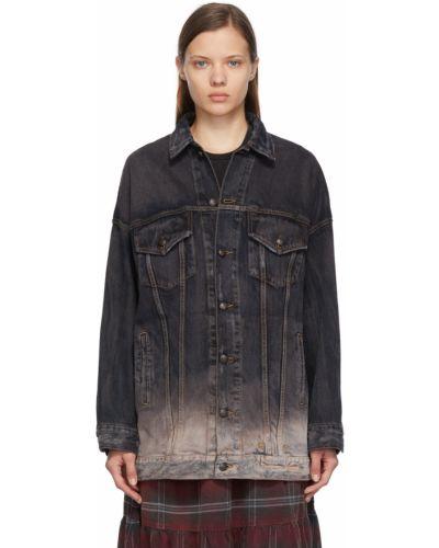 Черная джинсовая куртка с воротником R13