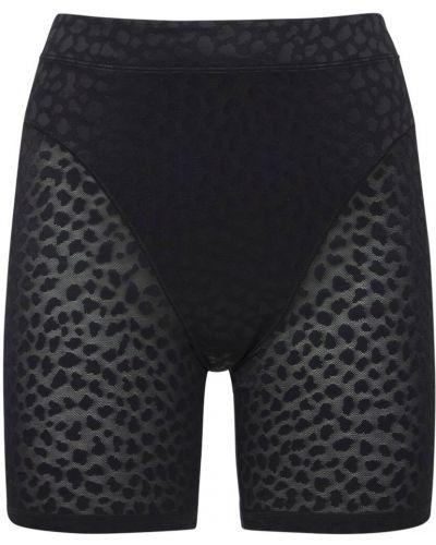 Черные французские шорты Adam Selman Sport