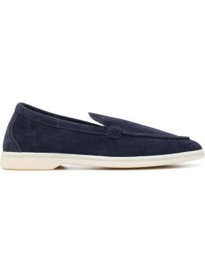 Niebieskie loafers skorzane Scarosso