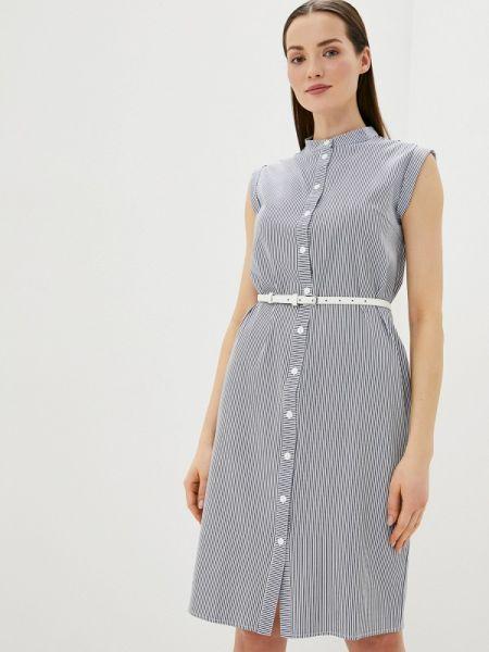 Платье платье-рубашка синее Remix